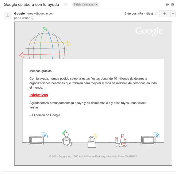 Google gives back